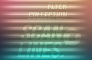 Scanlines Flyers Template Psd
