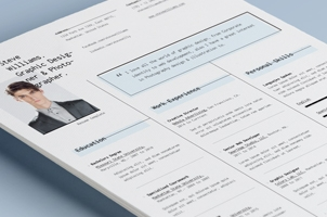 Simple Resume Template vol14