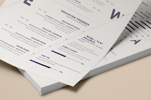 Simple Resume Template vol7