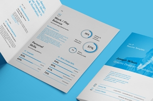 Simple Resume Template vol9