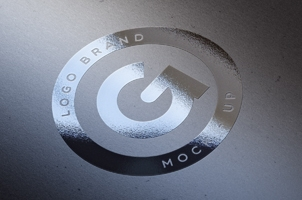 Sliver Foil Logo Mock-Up Template
