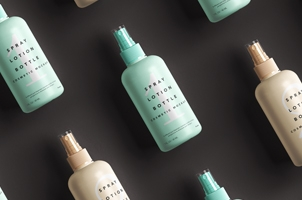 Spray Lotion Cosmetic Psd Mockup Bottle