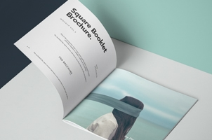 Square Psd Brochure Mockup Vol5
