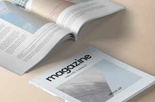 Square Psd Magazine Mockup Vol4