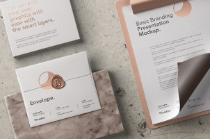 Stationery Branding Mockup Vol 30
