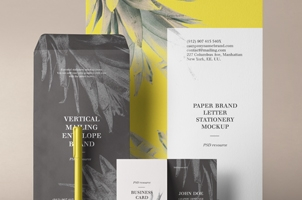Stationery Branding Mockup Vol 33