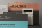 Stationery Psd Folder Mockup