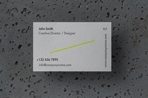 Stone Psd Business Card Mockup Scene