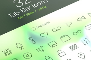 Tab Bar Icons iOS 7 Vol2