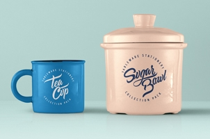 Tableware Psd Mockup Vol2