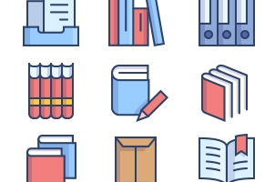 The Color Icons Set :: Books and Text
