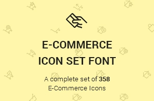 The Icons Font Set E-Commerce