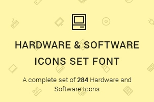 The Icons Font Set Hardware and Software