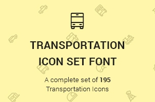 The Icons Font Set :: Transportation