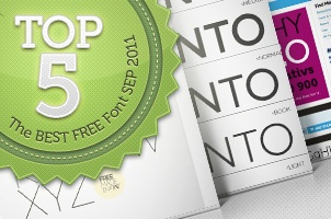 The top 5 best free font September 2011