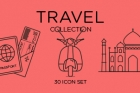 Travel Icons Collection Set