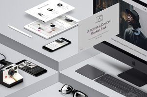 UI Isometric Psd Devices Pack Vol5