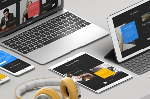 UI Silver Psd Apple Devices Pack