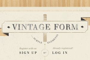 Vintage Sign Up Login Form Psd