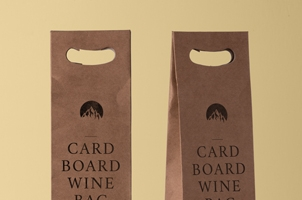 Wine Psd Cardboard Bag