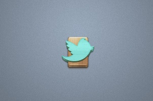 Wood Social Icons Set Vol 1